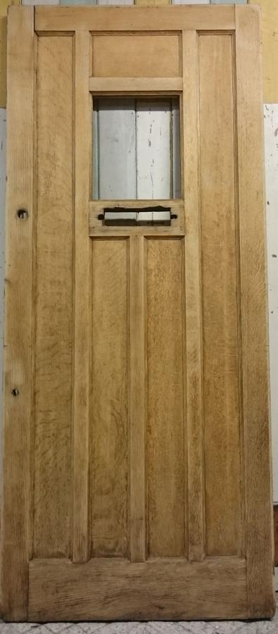 DE0742 A Reclaimed Oak Front Door with Panel For Glazing
