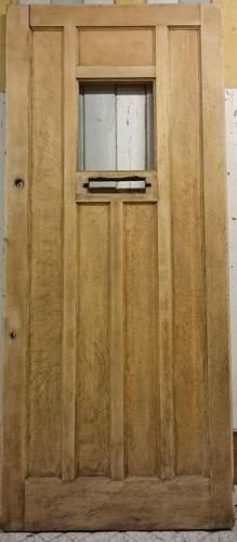 DE0742 A Reclaimed Oak Front Door with Panel For Glazing