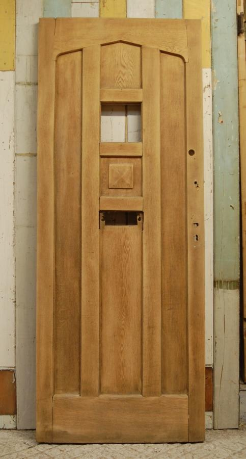 DE0743 A Reclaimed Oak Front Door with Panel For Glazing