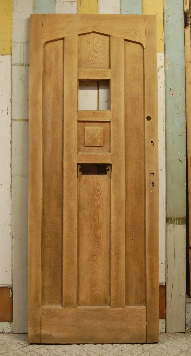 DE0743 A Reclaimed Oak Front Door with Panel For Glazing