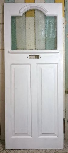 DE0745 Edwardian Front Door with Etched Laminated Glass Panel