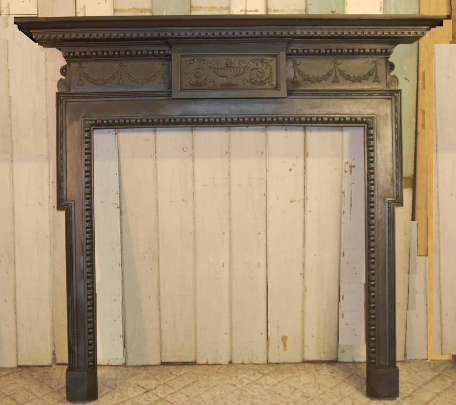 FS0029 Large Neo Georgian / Edwardian Cast Iron Fire Surround