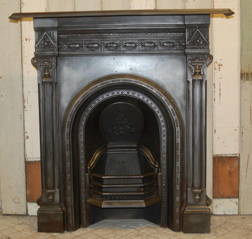 FC0029 A Very Pretty Cast Iron Victorian Combination Fire