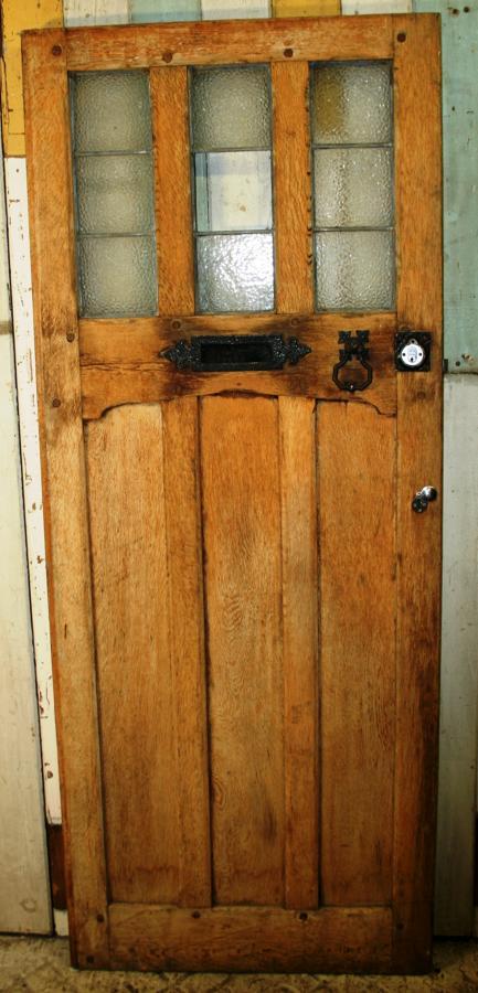 DE0749 An Arts & Crafts Oak Cottage Door c.1910-1915