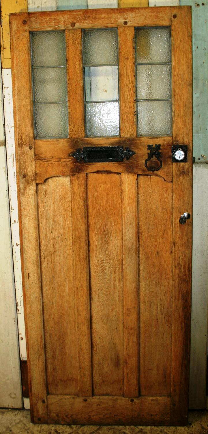 DE0749 An Arts & Crafts Oak Cottage Door c.1910-1915