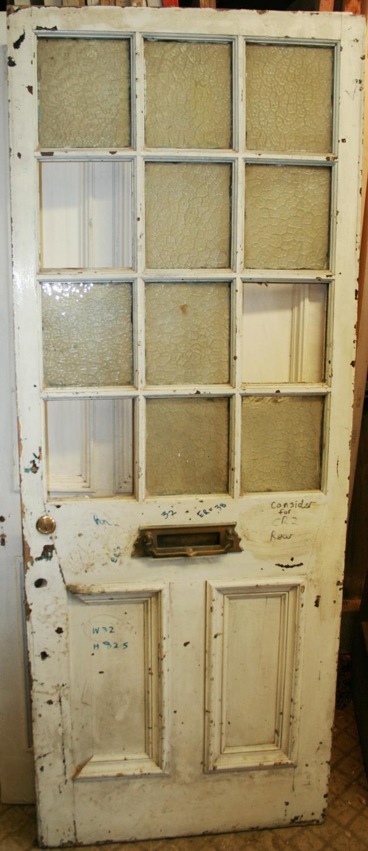 DE0751 A Late Victorian Pine Front Door with Gunstock details