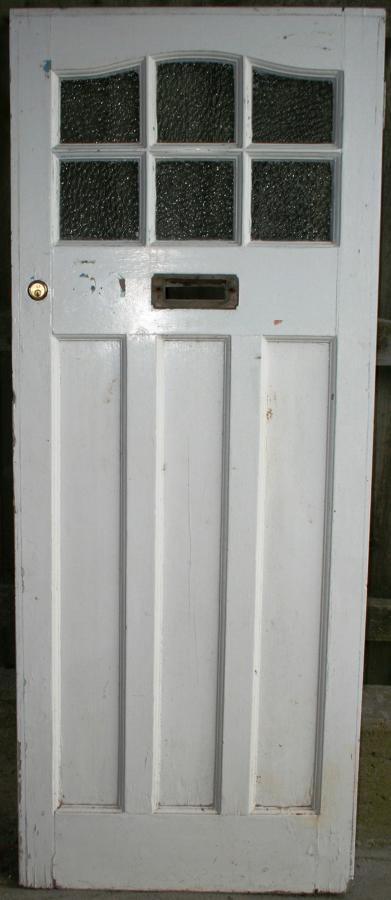 DE0752 A Classic Edwardian Front Door with 6 Glazed Panels