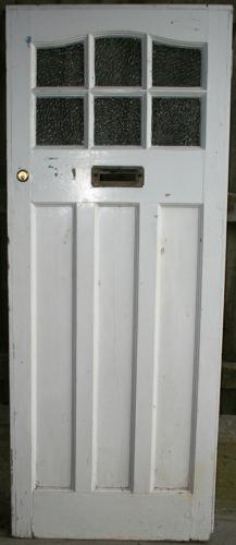 DE0752 A Classic Edwardian Front Door with 6 Glazed Panels