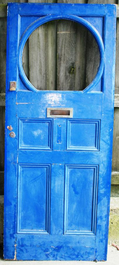 DE0753 An Unusual Early Edwardian Pine Front Door