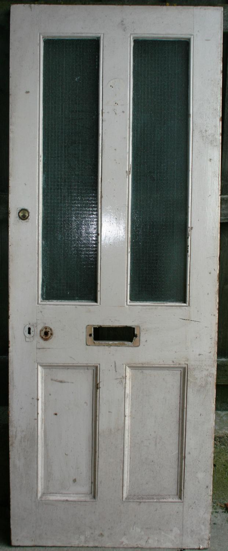 DE0754 A Victorian Pine 4 Panelled Front Door