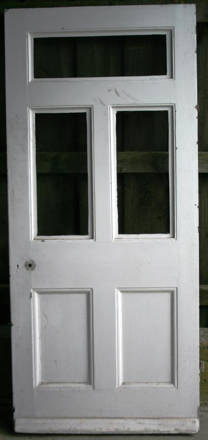 DB0634 A Victorian 5 Panel Solid Door for internal or external use.