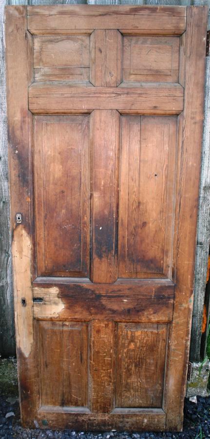 DB0512 Georgian Pine 6 Panel Door with Fielded Panels