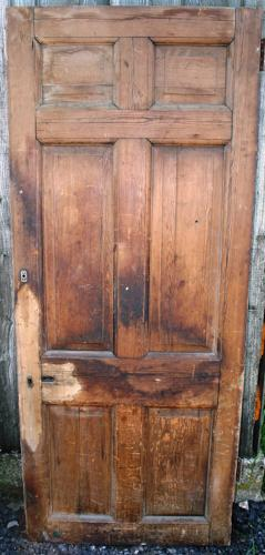 DB0512 Georgian Pine 6 Panel Door with Fielded Panels