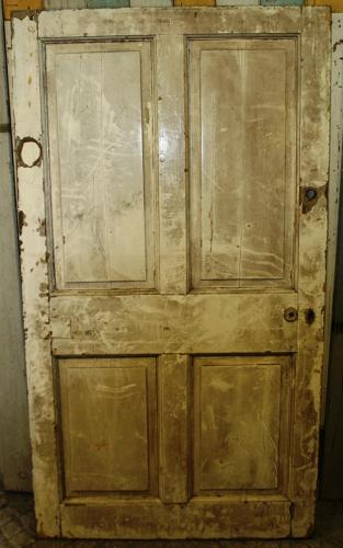 DB0352 A Broad  4 Panelled Georgian Door for Internal/External Use