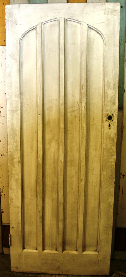 DB0375 A Gothic Pine Door, for Internal or External with Arched Panels