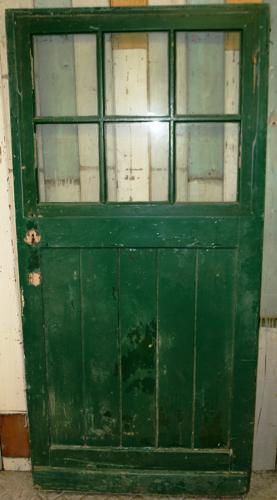 DB0461 An Edwardian Pine Door with 6 Glazed Panels