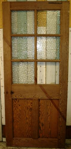 DB0499 An Edwardian Pine Door with 6 Panels for Glazing