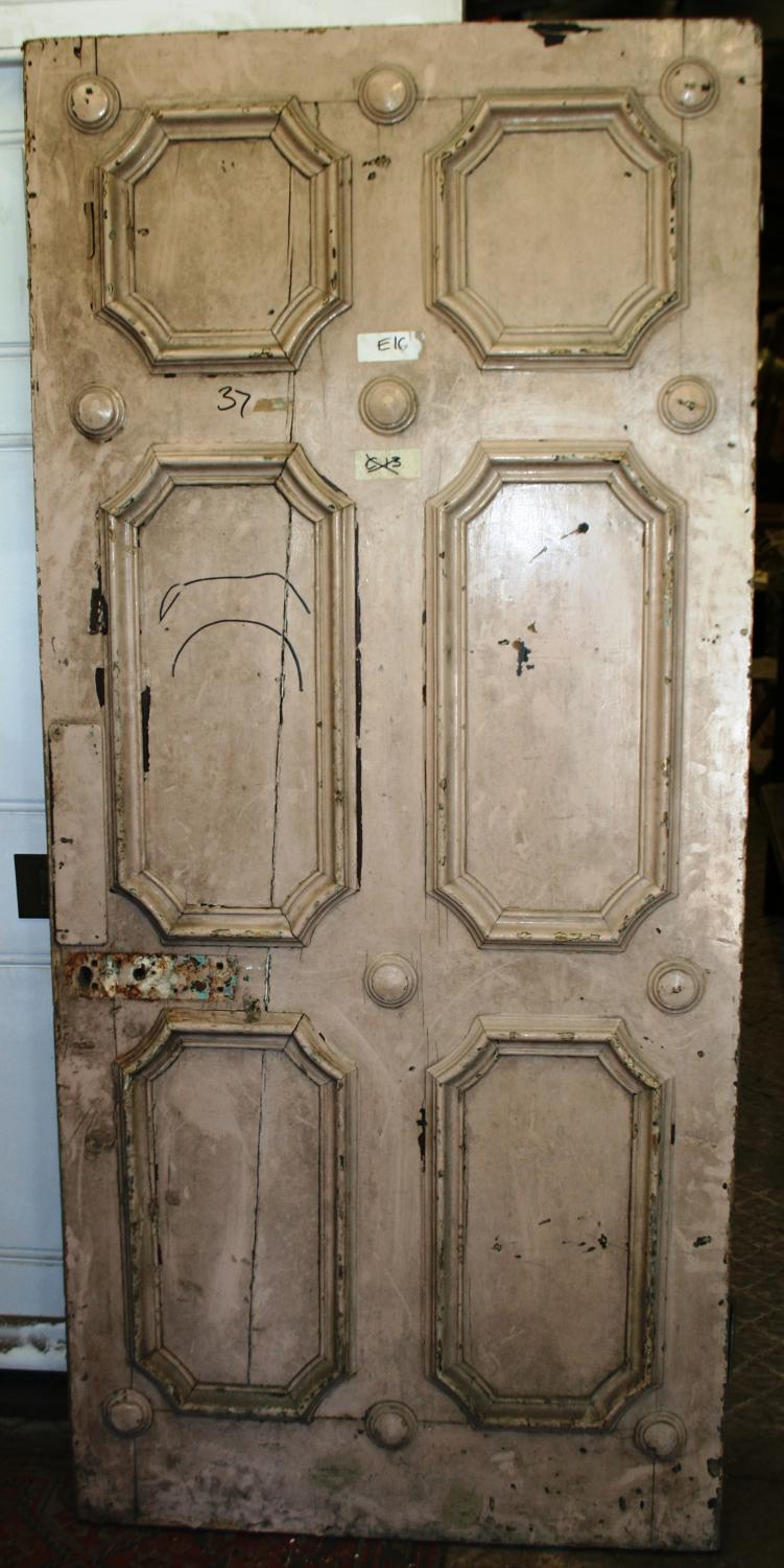 DB0569 An Unusual Georgian Pine Door for Internal or External Use
