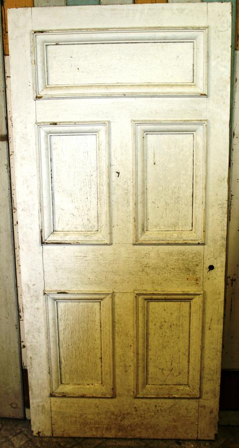 DB0635 A Large Edwardian Pine Door for Internal or External Use