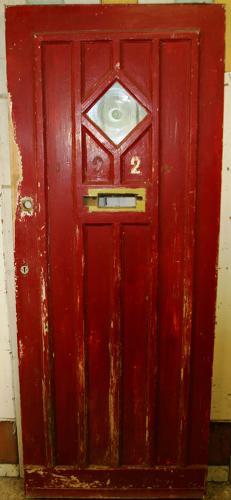 DE0486 An Edwardian Pine Cottage Style Front Door