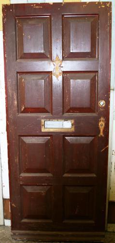 DE0591 An 8 Panelled Pine Door for External  Use