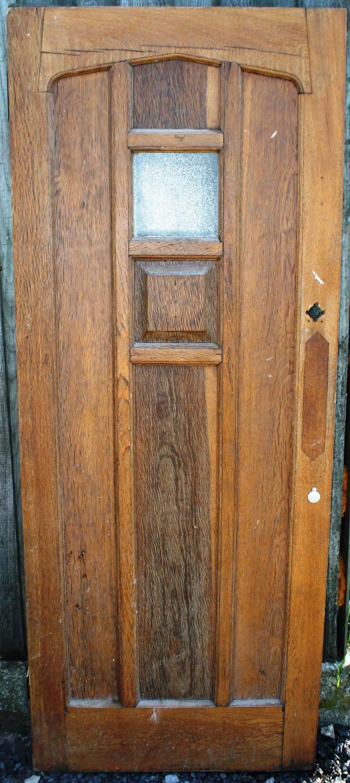 DE0756 An Edwardian Oak, Arts & Crafts, Cottage Style  Front Door