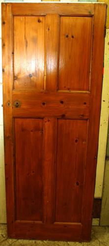 DI0650 An Edwardian, Arts & Crafts, 4 Panelled Internal Pine Door