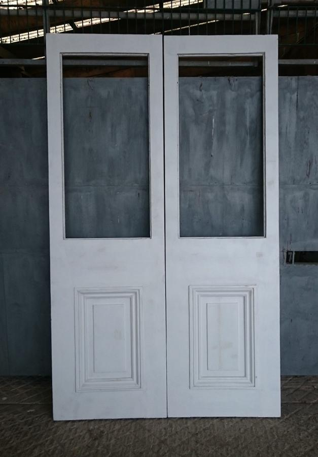 DP0243 A Pair of Victoria Pine Doors for Glazing ex-Midland Hotel