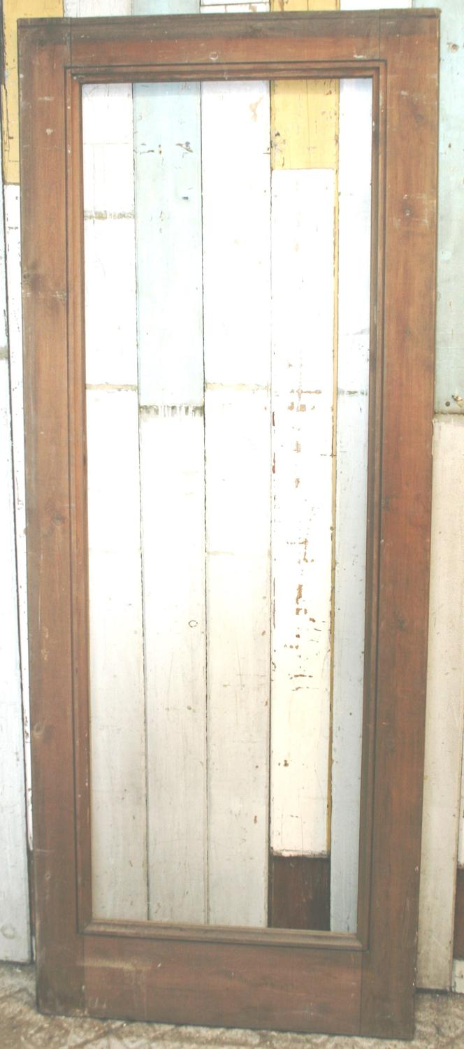DB0350 A Tall Pine Door, probably Victorian, for Glazing.