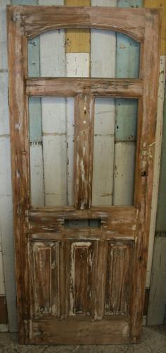 DE0616 A Late Victorian Front Door w 3 Glazed Panels