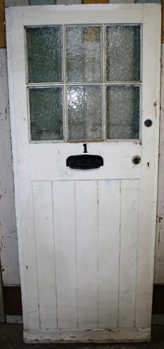 DE0765 Lovely Edwardian Panelled Pine Door