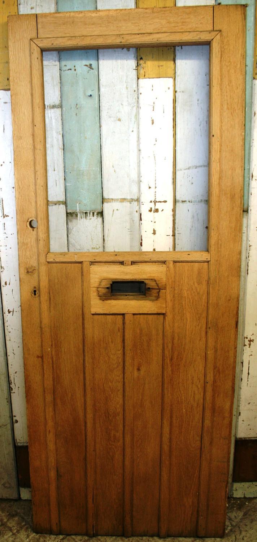 DE0768 A Solid Oak Edwardian Front Door