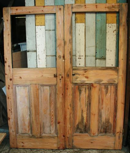 DP0233 A Pair of Solid Pine Victorian Doors c. 1900