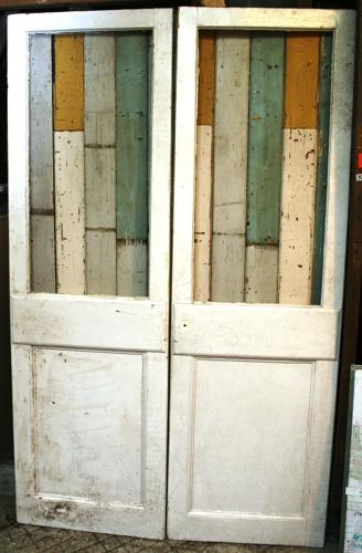 DP0237 A Pair of Edwardian Pine School Doors