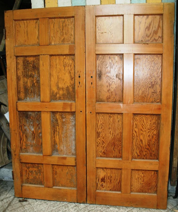 DP0239 A Pair of Edwardian Pitch Pine Doors