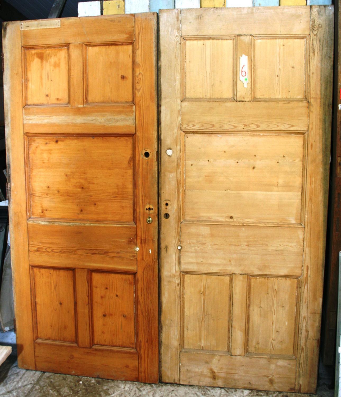 DP0242 A Pair of Pine, Arts & Crafts Doors