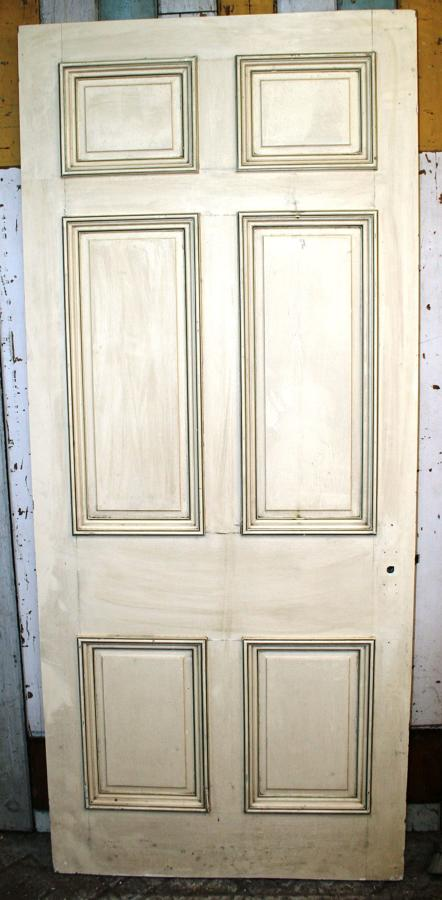 DB0343 An Early Edwardian, Georgian Style, 6 Panel Door in Pine