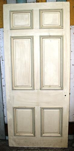 DB0343 An Early Edwardian, Georgian Style, 6 Panel Door in Pine