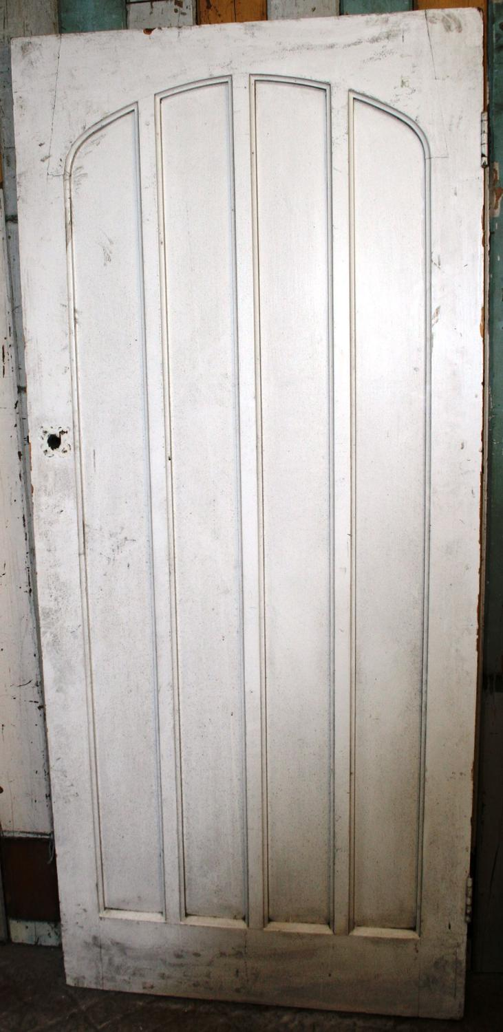 DB0377 A Gothic Pine Door, for Internal or External with Arched Panels