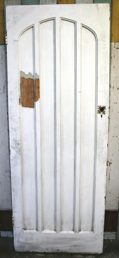 DB0378 A Gothic Pine Door, for Internal or External with Arched Panels