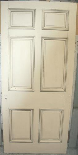 DB0637 An Early Edwardian, Georgian Style, 6 Panel Door in Pine