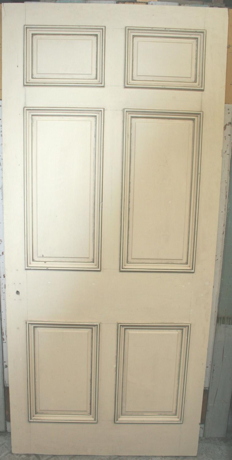 DB0637 An Early Edwardian, Georgian Style, 6 Panel Door in Pine