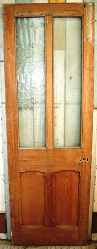 DB0639 A Tall, Victorian, Gothic Revival, Glazed Door in Pine
