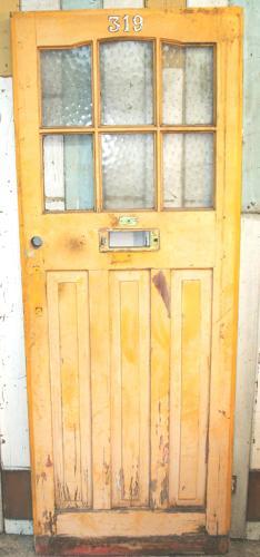 DE0608 An Elegant Edwardian Pine Front Door
