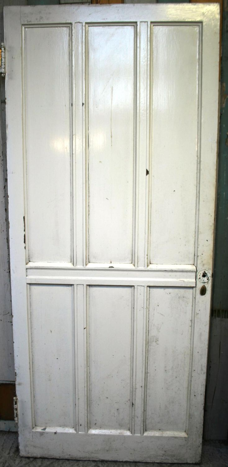 DI0564 A Painted Pine, Arts & Crafts Door c. 1900, for Internal Use