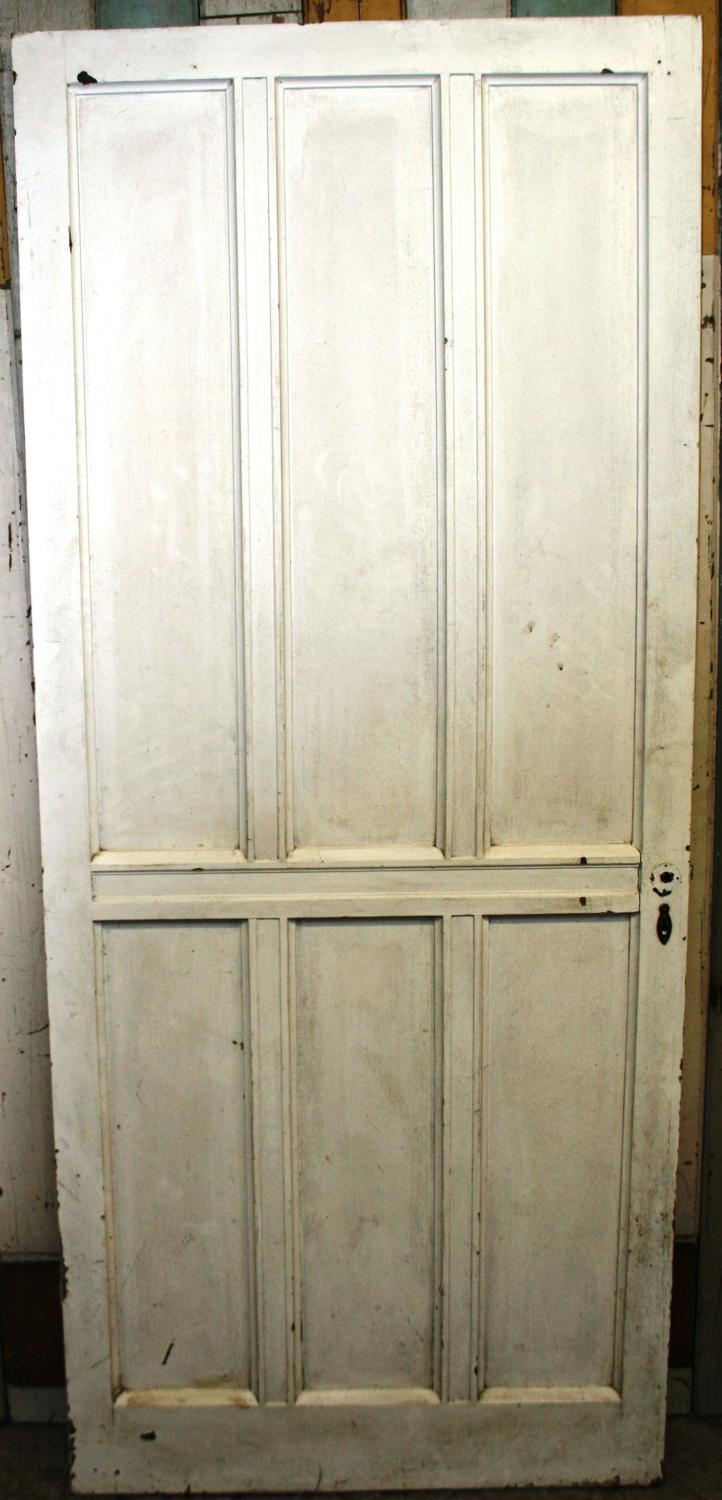 DI0565 A Painted Pine, Arts & Crafts Door c. 1900, for Internal Use