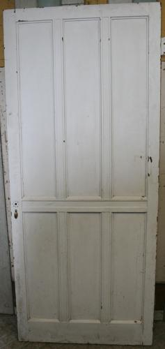 DI0568 A Painted Pine, Arts & Crafts Door c. 1900, for Internal Use
