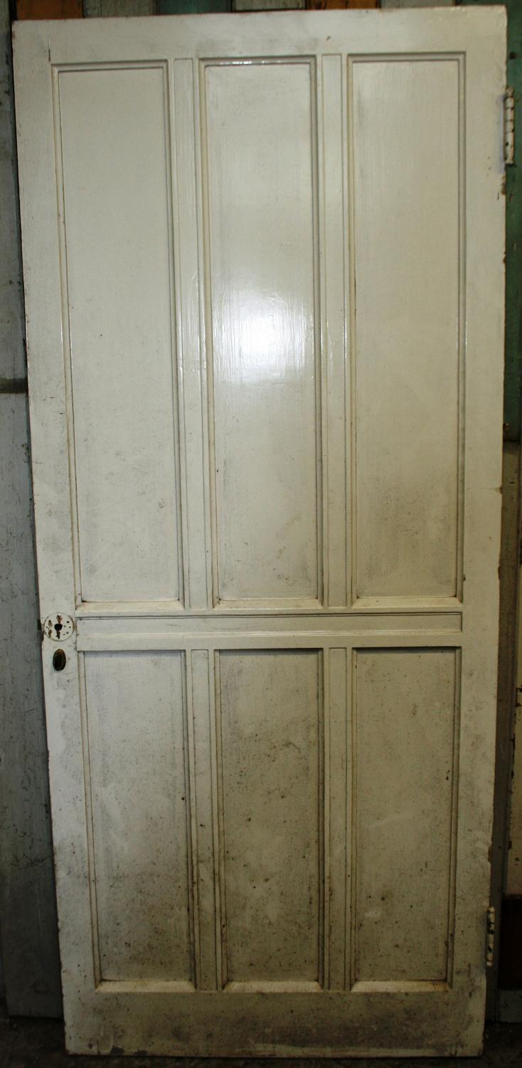 DI0569 A Painted Pine, Arts & Crafts Door c. 1900, for Internal Use