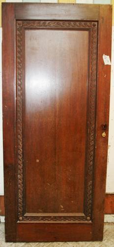 DI0653 An Edwardian Mahogany Door c. 1935, in Art Deco Style