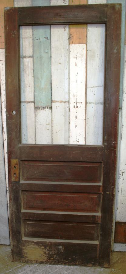 DB0286 An Edwardian Art Deco Pine Door for Internal or External Use